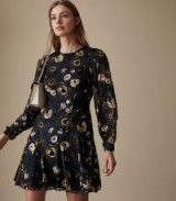 Reiss ALLIE FLORAL BURNOUT DRESS
