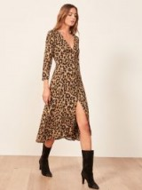 REFORMATION Alma Dress in Leopard ~ glamorous animal prints