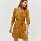 WAREHOUSE BEA DITSY FLORAL BUTTON DRESS
