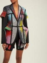 GERMANIER Bead and crystal-embellished black blazer ~ contemporary beaded jacket