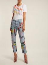 GERMANIER Bead-embellished straight-leg jeans ~ beaded blue denim