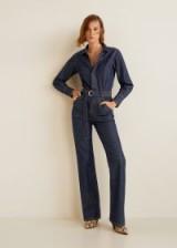 MANGO Belt denim jumpsuit ~ vintage look
