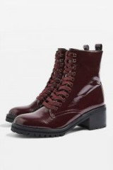 Topshop Brazil Lace Up Boots in Oxblood | deep autumn colours | rich reds
