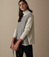 REISS BRIDGET STRIPED ROLLNECK JUMPER GREY ~ stylish winter knit