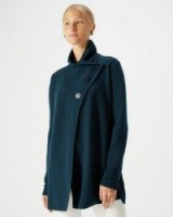 JIGSAW BUTTON FASTENING PIQUE CARDIGAN Eucalyptus / chic knitwear