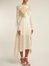 PREEN BY THORNTON BREGAZZI Cara ivory sequin-embellished lace dress – luxe fashion