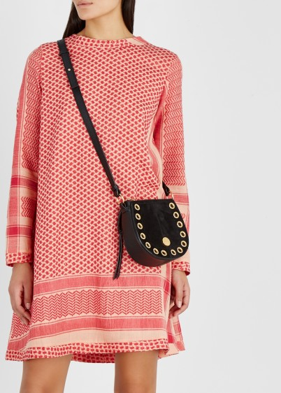 CECILIE COPENHAGEN Red cotton jacquard dress / effortless style fashion
