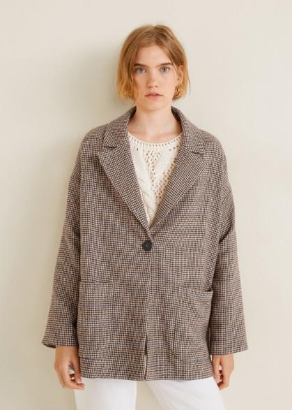 MANGO Check Structured blazer VIRAN / oversized dogtooth jacket