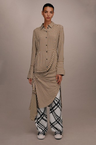 TOPSHOP Checked Gathered Shirt Dress by Boutique / contemporary designs