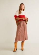 MANGO Checked linen skirt NANDA
