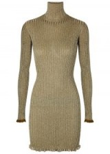 CHLOÉ Metallic-weave ribbed-knit dress / luxury knitted dress