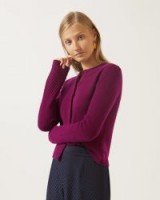 JIGSAW CLOUD CASHMERE CARDIGAN Boysenberry / luxury Autumn knits