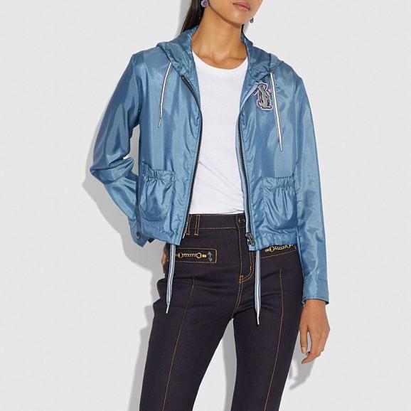 COACH x Selena Embellished Windbreaker | casual autumn jacket