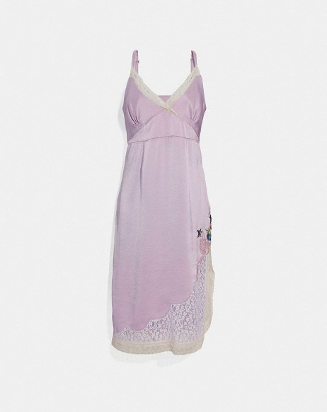 COACH x Selena Slip Dress PALE LILAC | vintage style cami frock