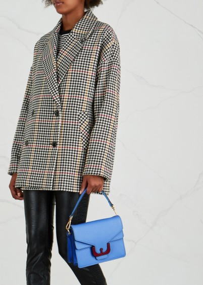 COCCINELLE Ambrine blue leather shoulder bag