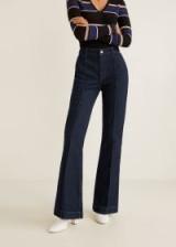 Mango Decorative seam flared jeans in open blue – 70s inspired denim flares