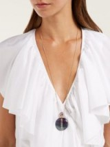 JACQUIE AICHE Diamond & fluorite purple potion bottle pendant necklace