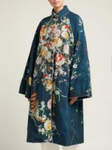 BY WALID Dorothee navy cotton-canvas coat | oriental inspired