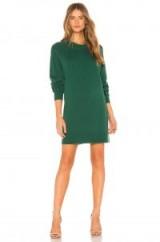 Elizabeth and James HAWKIN BOYFRIEND SWEATER in Bottle Green | luxe jumper dress | autumn knitwear