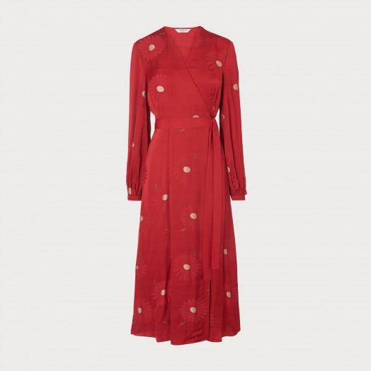 L.K. Bennett ELSPETH RED DRESS / wrap style midi