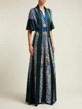 PETER PILOTTO Embellished green satin evening gown