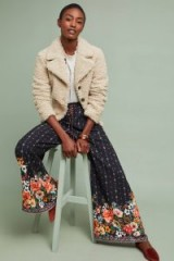 Farm Rio Floral Wide-Leg Trousers Black Motif