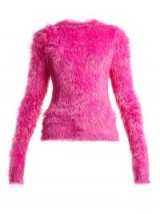 BALENCIAGA Hot-Pink Fluffy sweater
