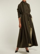 THE ROW Gioli khaki-green cashmere-blend longline cardigan ~ long elegant cardi