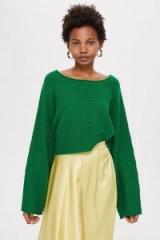 TOPSHOP Green Cropped Jumper ~ Autumn knitwear