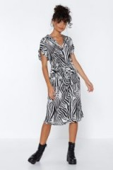 NASTY GAL Guess What We Herd Zebra Dress. MONO ANIMAL PRINT