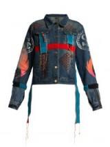 NOKI Hand-painted blue denim jacket