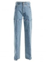 VETEMENTS High-rise straight leg frayed panel jeans ~ deconstructed denim