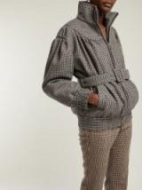MIU MIU Grey Houndstooth wool jacket