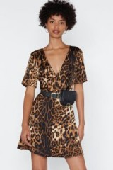 NASTY GAL If Not Meow Leopard Dress in Animal