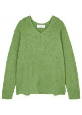 IN.NO Aria green mohair-blend jumper ~ luxe V-neck