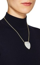 IRENE NEUWIRTH Heart-Shaped Rainbow Moonstone Pendant Necklace ~ luxe pendants