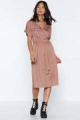 NASTY GAL It's Worth a Tie Utility Dress in rose – pink utilitarian fashion