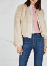 J BRAND Ashbey stone faux fur jacket ~ casual luxe
