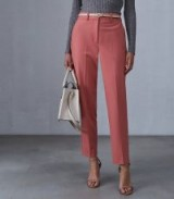 REISS KATIE TAPERED TROUSERS TULIP PINK