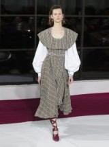 EMILIA WICKSTEAD Kevin brown pleated houndstooth crepe-lined dress