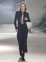 PROENZA SCHOULER Keyhole leather-trimmed stretch-knit dress