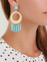 IRENE NEUWIRTH 18kt gold, aquamarine & turquoise earrings ~ fine blue stone statement jewellery ~ luxury bohemian accessory