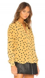 L'Academie THE LARA BUTTON UP in Yellow Not Dot | spot print shirts