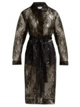 CHRISTOPHER KANE Lace black PVC coat