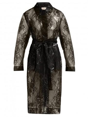 CHRISTOPHER KANE Lace black PVC coat