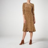 L.K. Bennett LEANIE LEOPARD PRINT SILK DRESS / animal prints