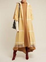 ROKSANDA Leisha yellow hooded checked wool coat