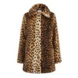 WAREHOUSE LEOPARD FAUX FUR COAT in Animal / glamorous winter coats