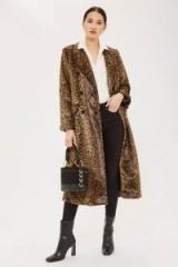 TOPSHOP Leopard Print Coat / faux fur