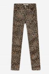 TOPSHOP Leopard Print Satin Jamie Jeans ~ printed skinnies